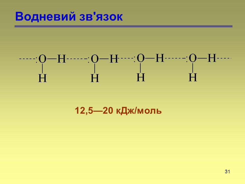 Водневий зв язок 12,5—20 кДж/моль