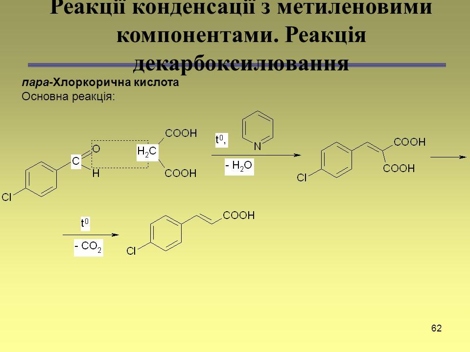 Реакції конденсації з метиленовими компонентами