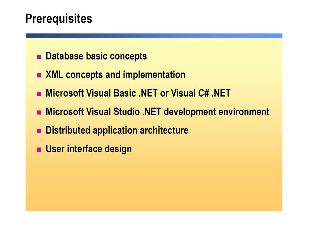 Course 2389b programming with microsoft ado ppt download 4 prerequisites 1betcityfo Image collections