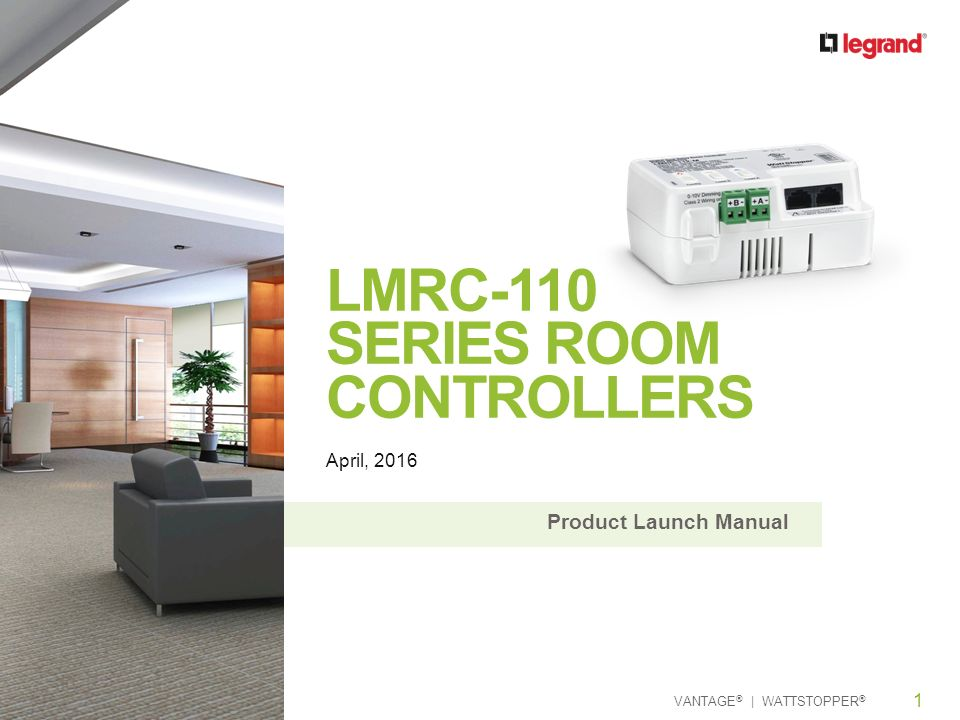 LMRC-110 Series Room Controllers on