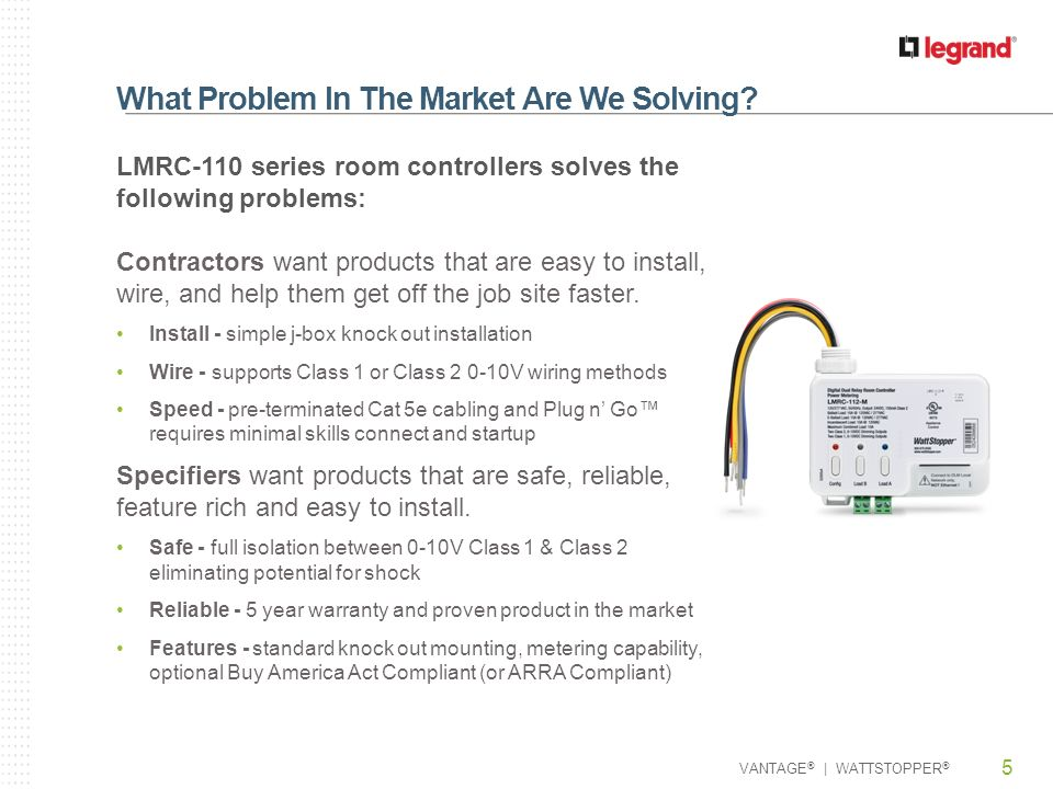 What+Problem+In+The+Market+Are+We+Solving lmrc 110 series room controllers ppt video online download wattstopper wi-300 wiring diagram at alyssarenee.co