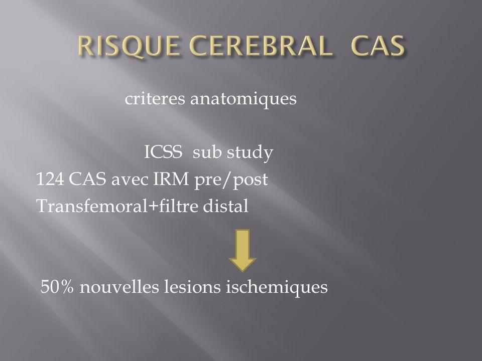 RISQUE CEREBRAL CAS criteres anatomiques ICSS sub study