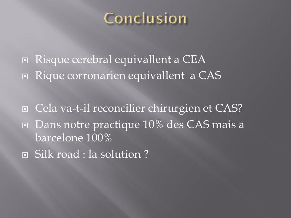 Conclusion Risque cerebral equivallent a CEA