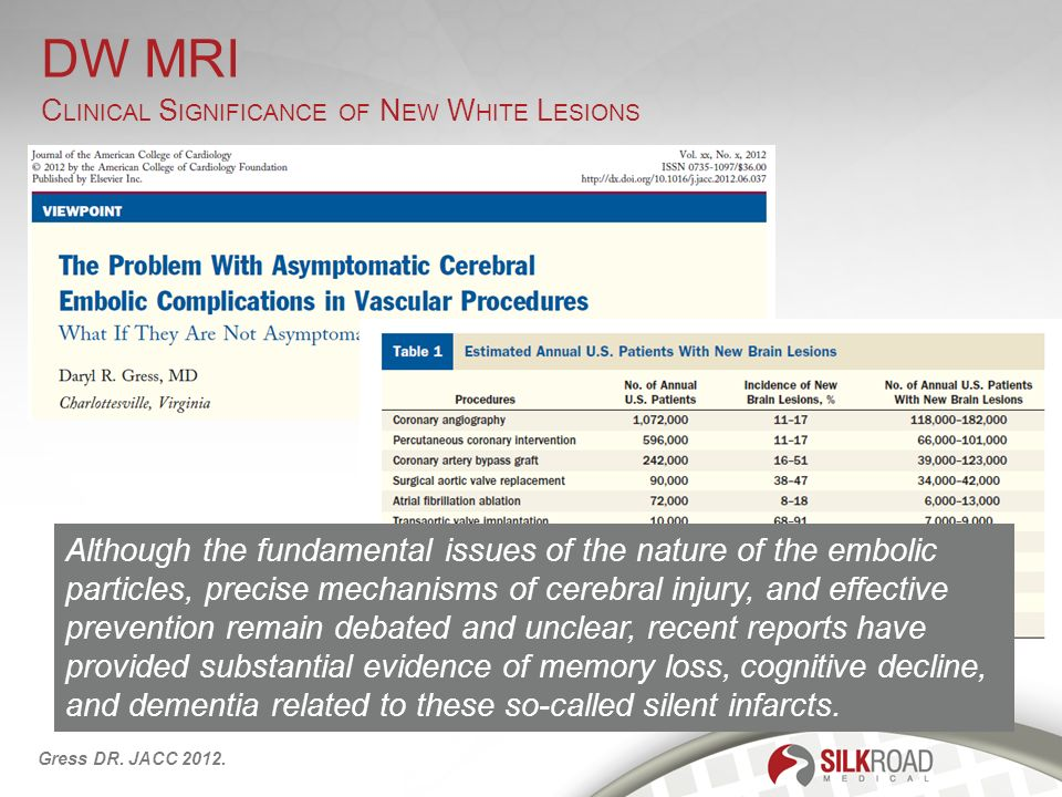 DW MRI Clinical Significance of New White Lesions.