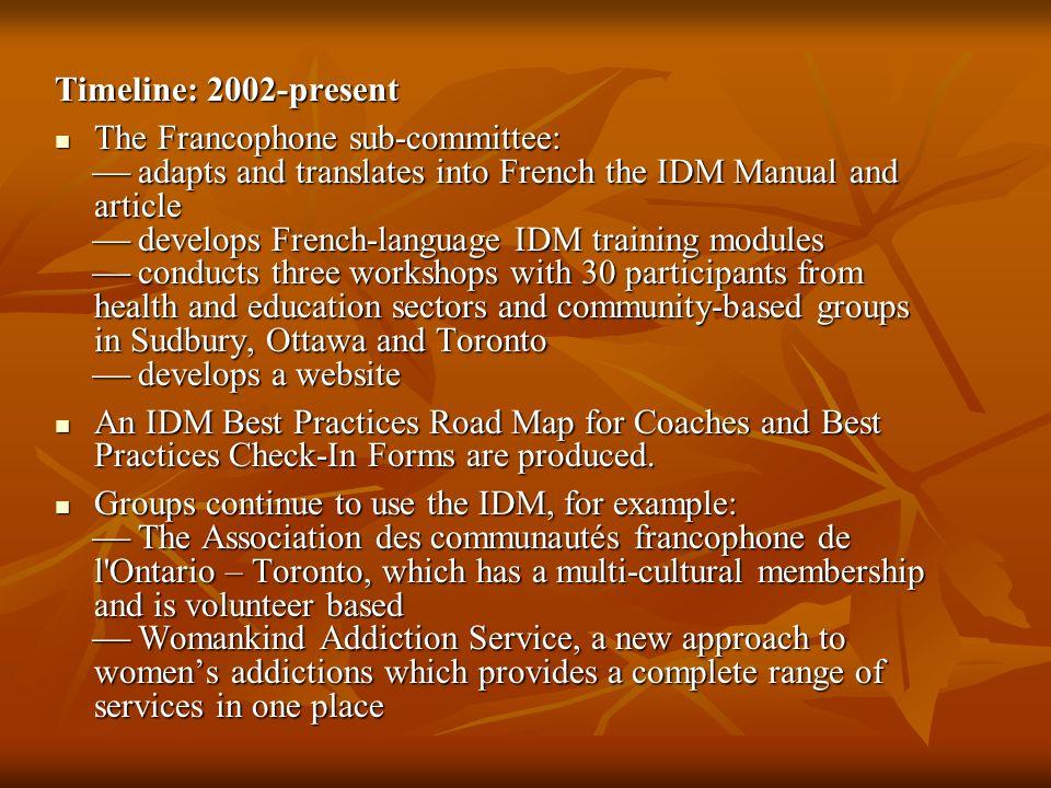 Timeline: 2002-present