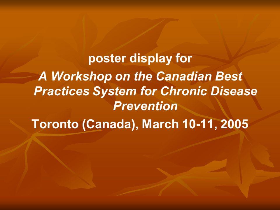 Toronto (Canada), March 10-11, 2005