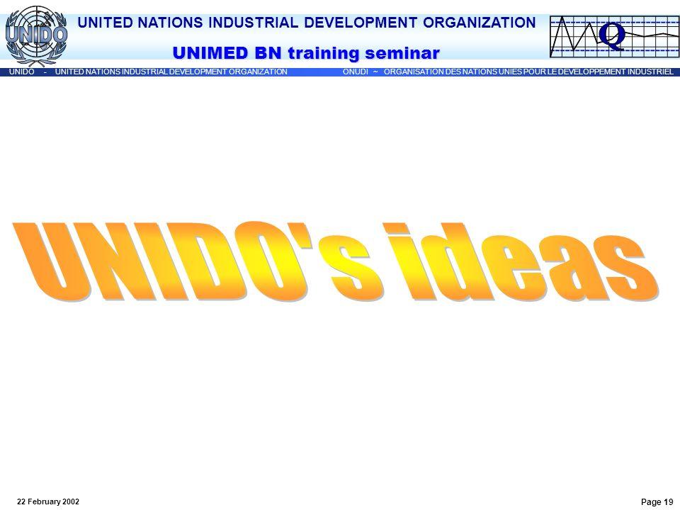 UNIDO s ideas