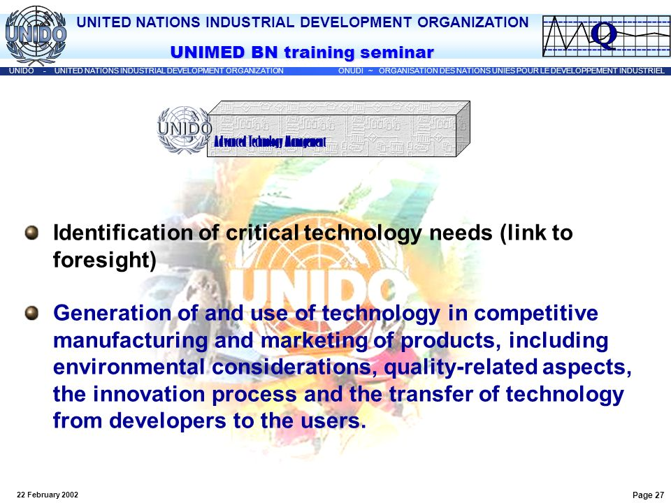 Identification of critical technology needs (link to foresight)