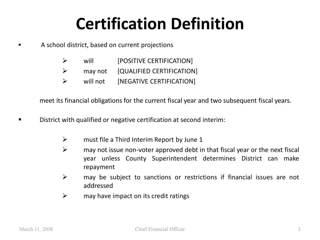 Second interim financial report ppt download 3 certification definition xflitez Images