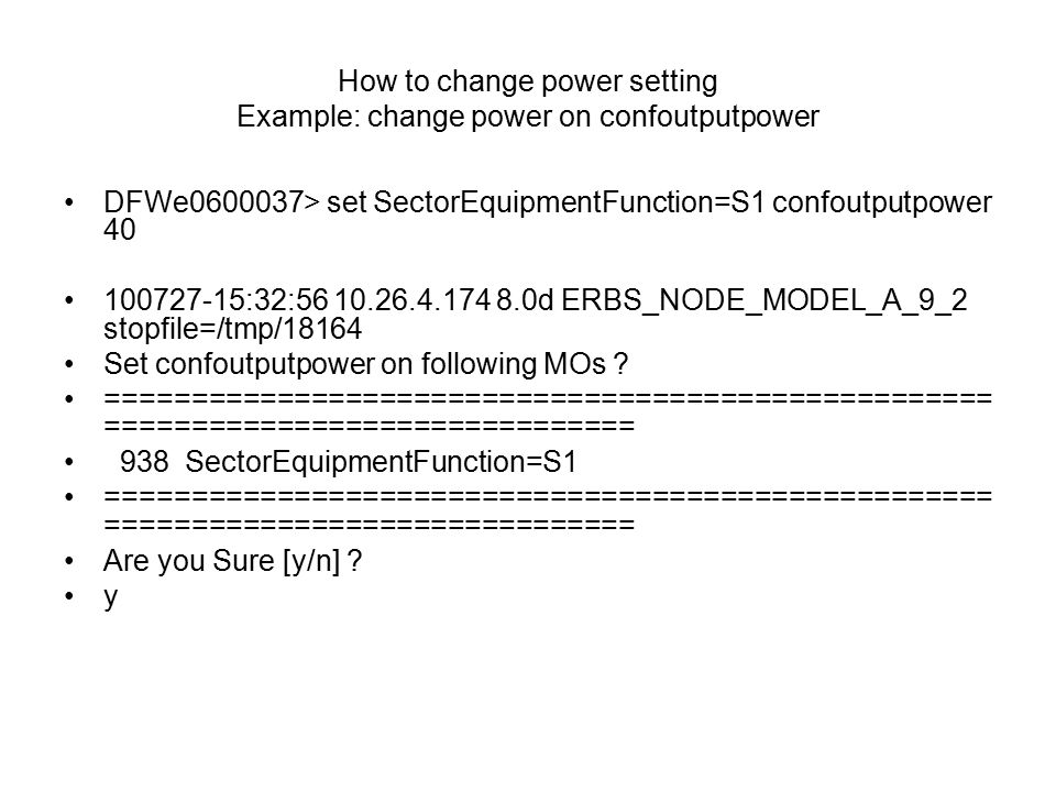 how to change power settings
