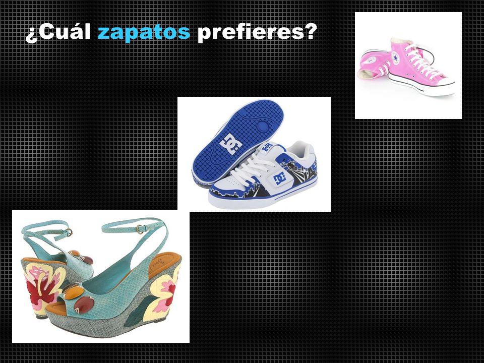 ¿Cuál zapatos prefieres
