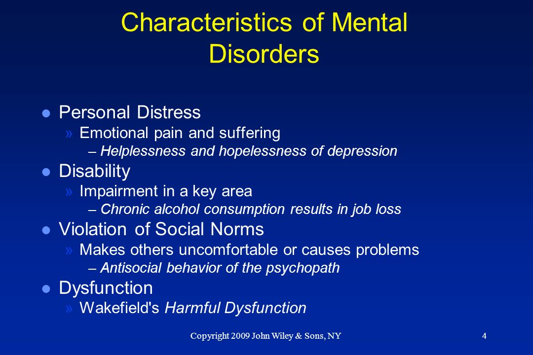 personal distress and disability Introduction psychological distress is widely used as an indicator of the mental  health of the population  disabilities and behavioural problems   demographic factors (2) stress-related factors and (4) personal resources.