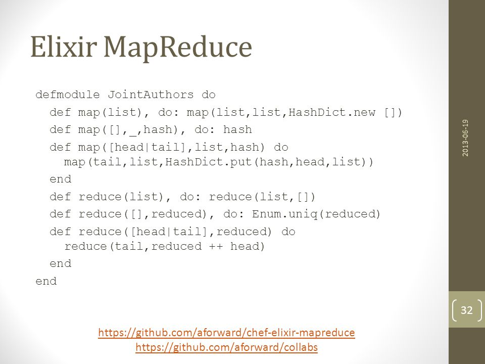 Elixir MapReduce