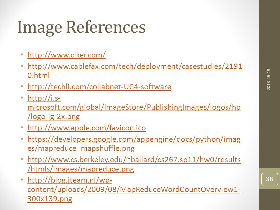 Image References http://www.clker.com/