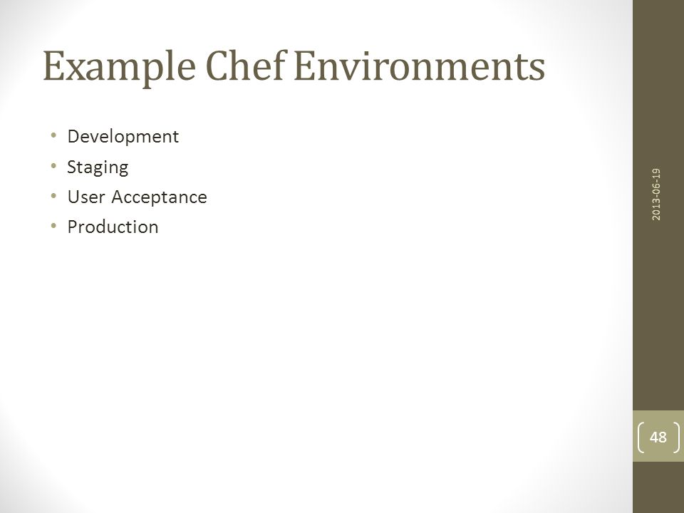 Example Chef Environments
