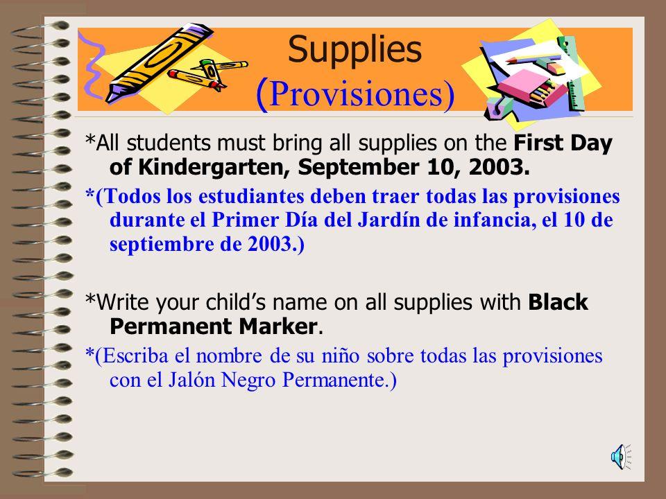 Supplies (Provisiones)