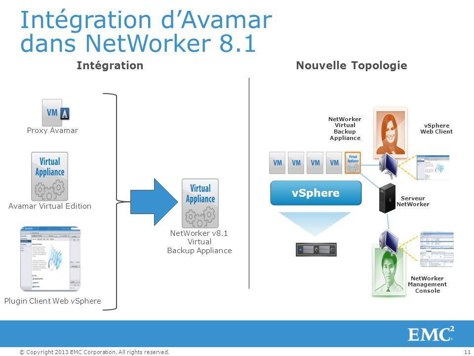 Intégration d'Avamar dans NetWorker 8.1