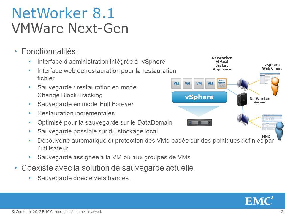 NetWorker 8.1 VMWare Next-Gen