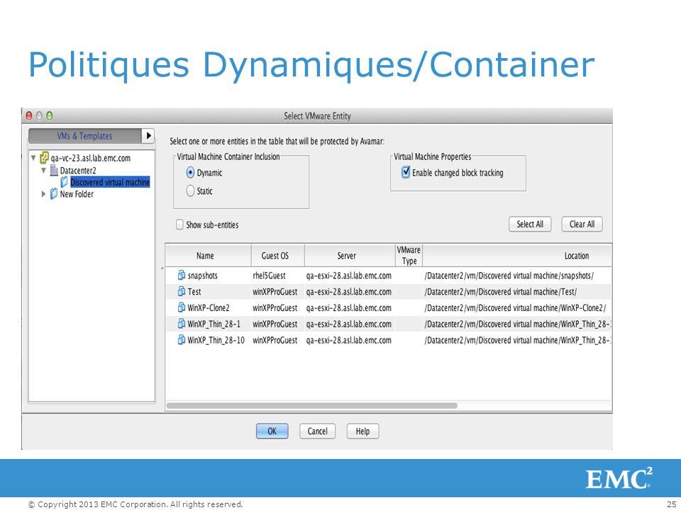 Politiques Dynamiques/Container