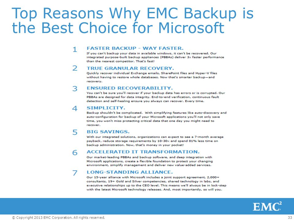 Top Reasons Why EMC Backup is the Best Choice for Microsoft