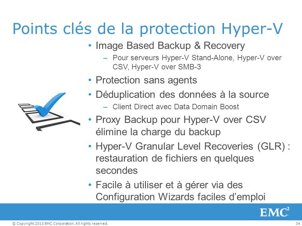 Points clés de la protection Hyper-V