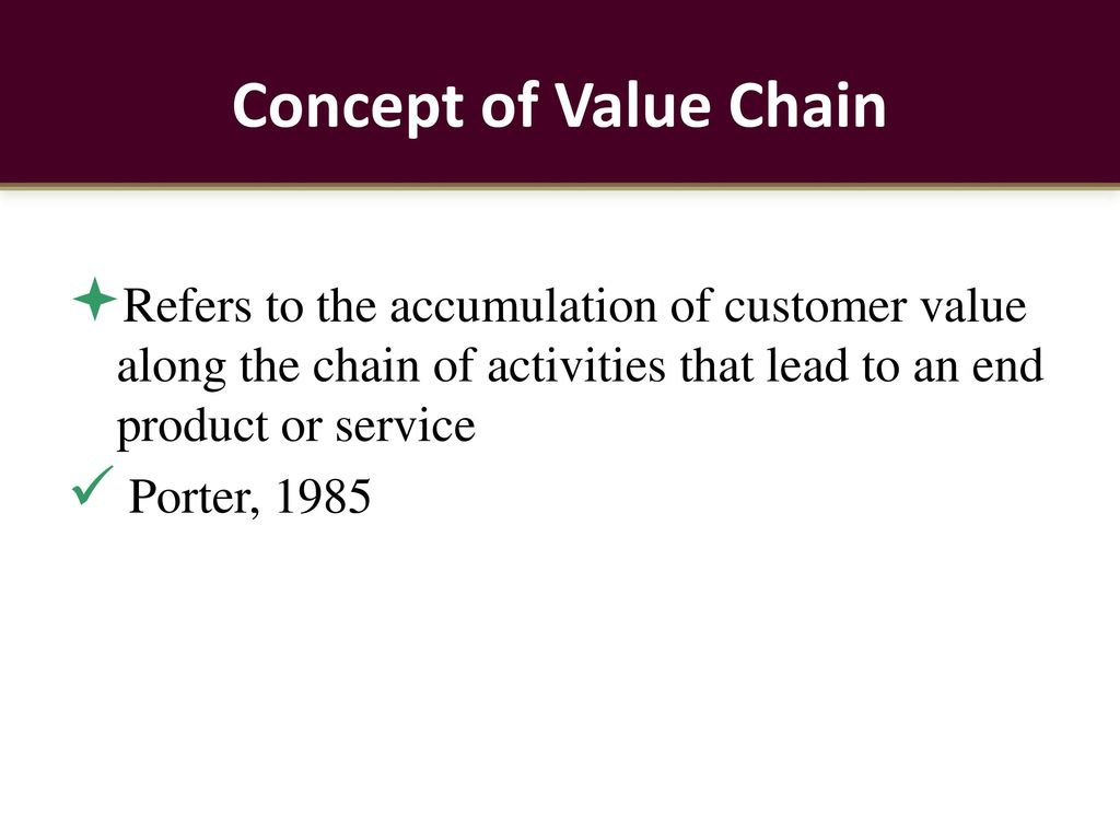 concept of value