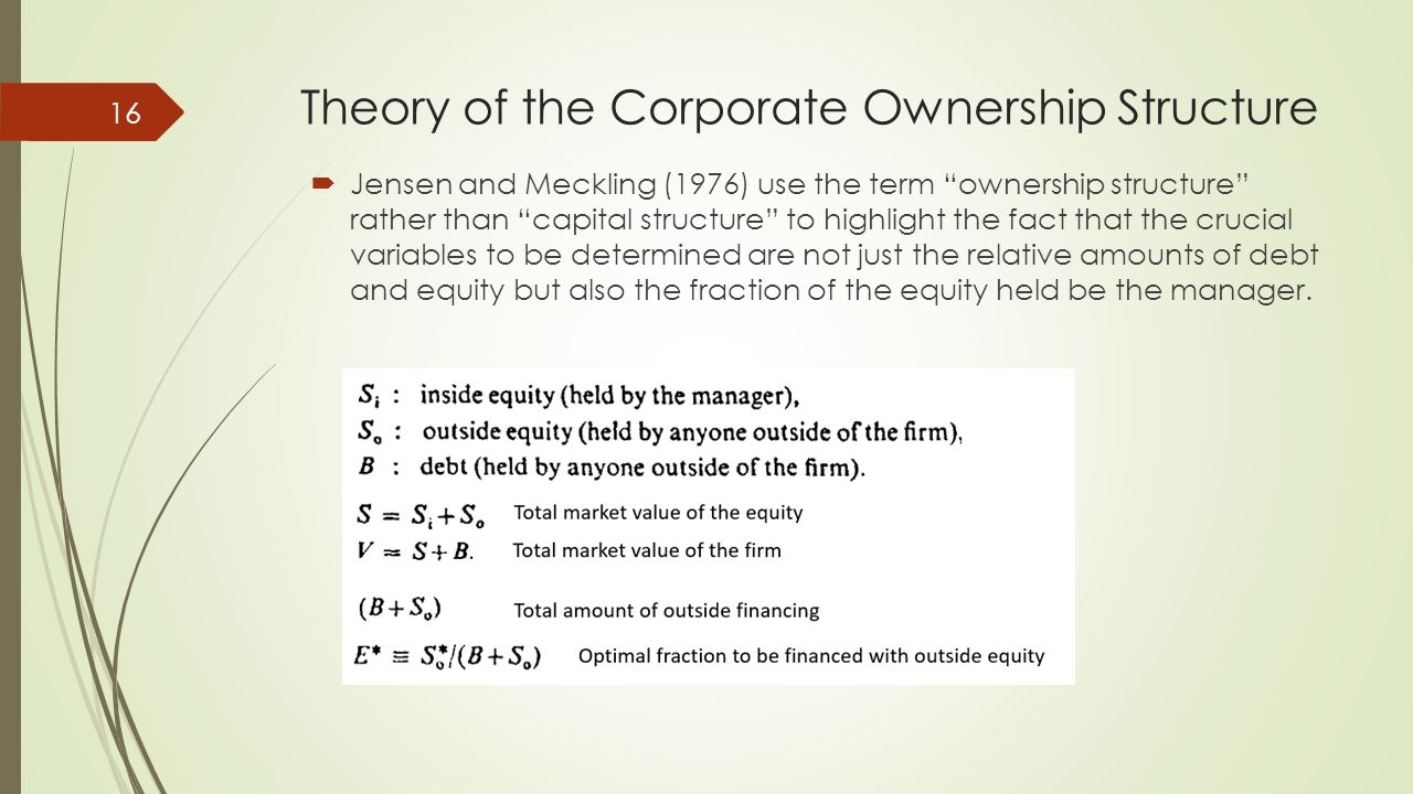 jensen meckling theory of the firm