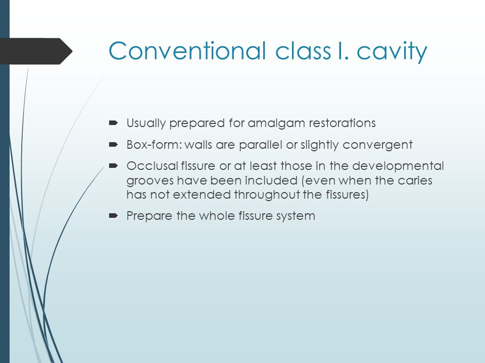 Conventional class I. cavity