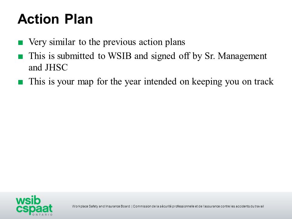 Action Plan Very similar to the previous action plans