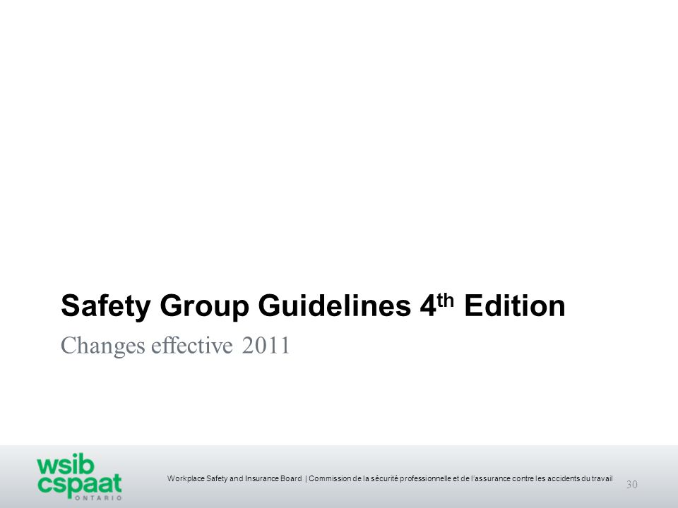 Safety Group Guidelines 4th Edition