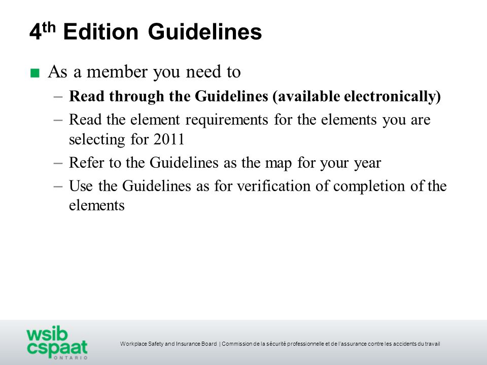 4th Edition Guidelines As a member you need to