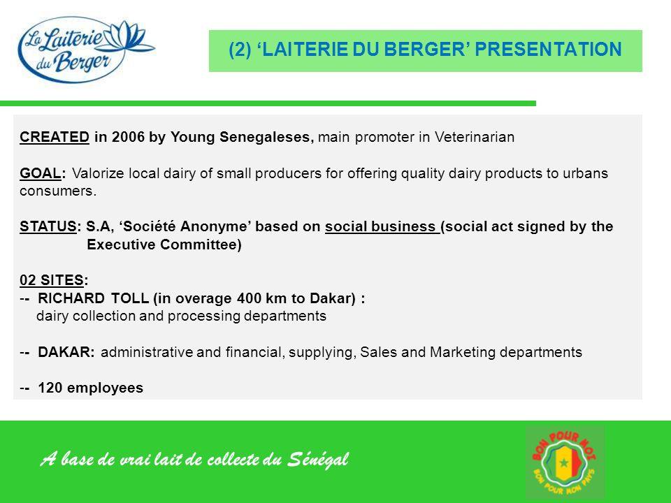 (2) 'LAITERIE DU BERGER' PRESENTATION