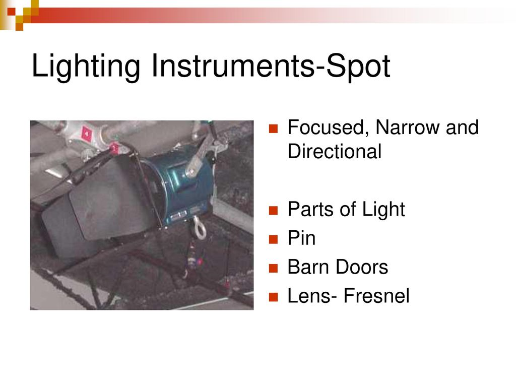 6 Lighting Instruments-Spot  sc 1 st  SlidePlayer & TV Studio Lighting Measuring Light Color Temperature - ppt download azcodes.com