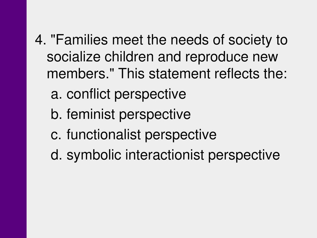 Chapter 15 families ppt download symbolic interactionist perspective 4 families meet the needs of society to socialize children and reproduce new members biocorpaavc Image collections