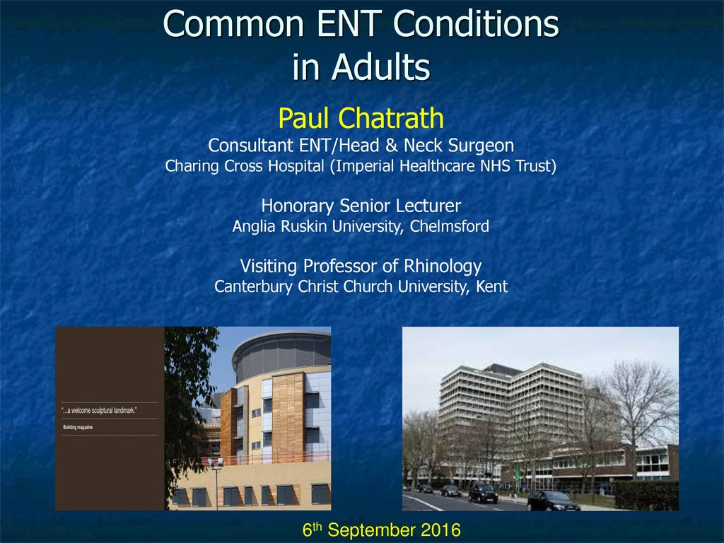 Common ENT Problems in Adults