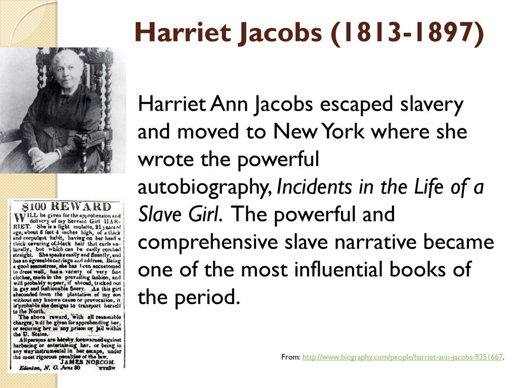 harriet jacobs a true woman True woman concept, to what extent jacobs's narrative adopts these values and targets her audience: domesticity → she is a caring woman, but wishes her children would die slavery doesn't allow this, white women uphold this.