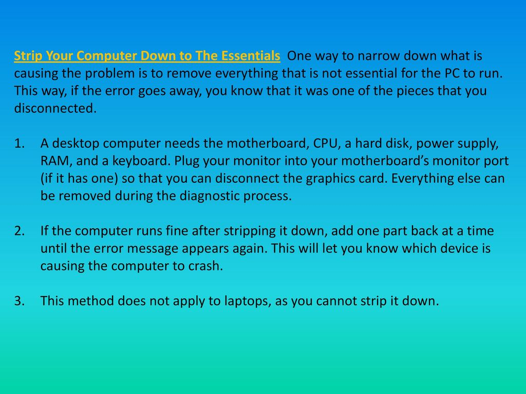 How to Fix the Blue Screen of Death on Windows - ppt video online ...