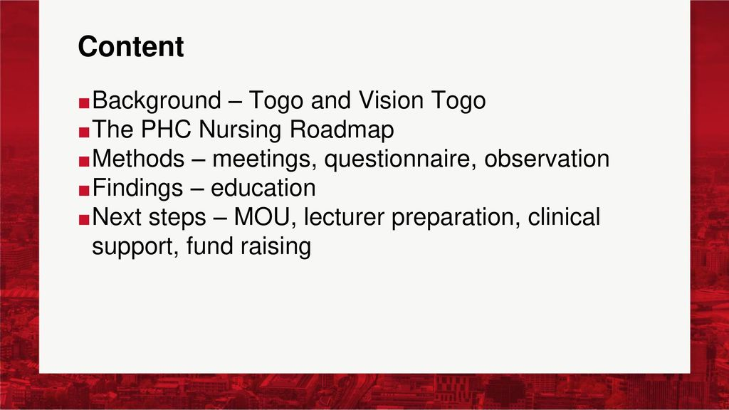 Public Health Education Needs Assessment Togo West Africa ppt