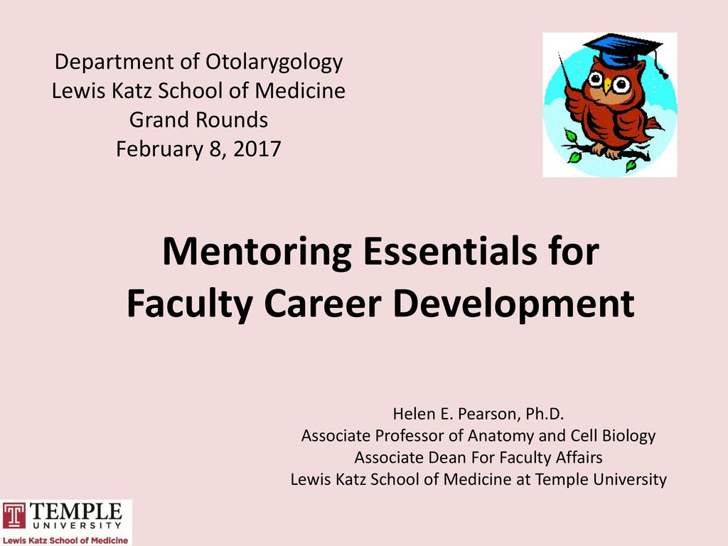 Mentoring Essentials for Faculty Career Development - ppt video ...