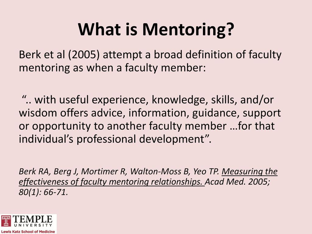 Mentoring dissertation faculty members