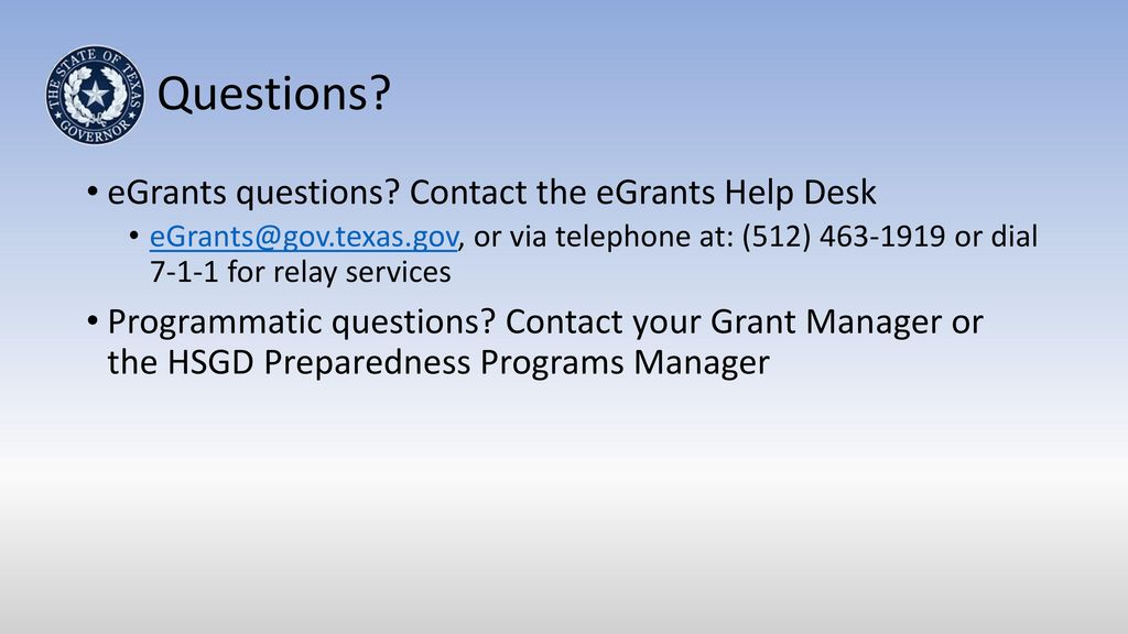 Questions Egrants Contact The Help Desk 2017 Lication Development Work State Homeland Security