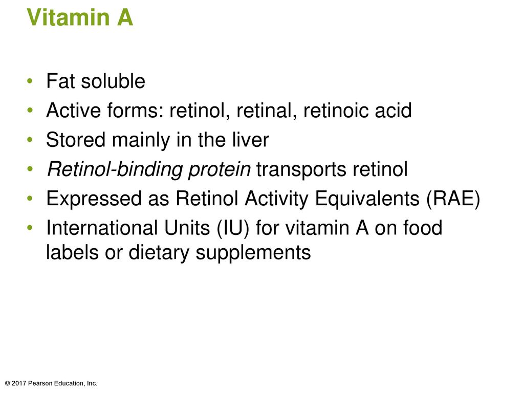 Chapter 10: Nutrients Involved in Antioxidant Function and Vision ...