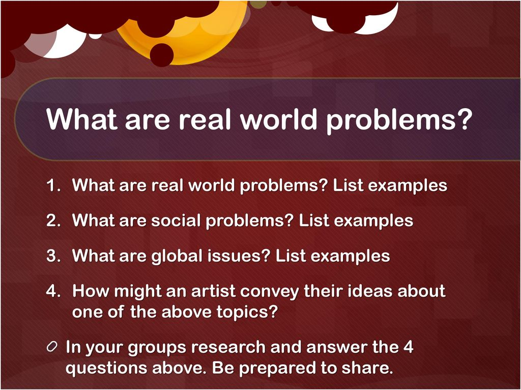 Social and global issues ppt download what are real world problems sciox Gallery
