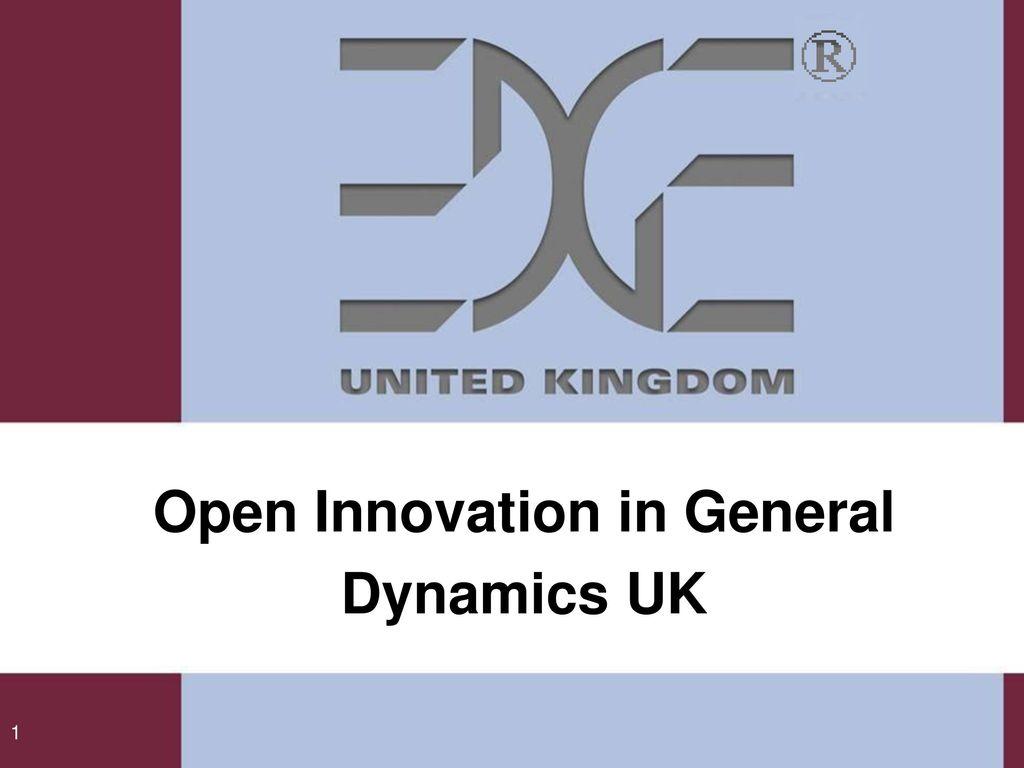 Open Innovation in General Dynamics UK