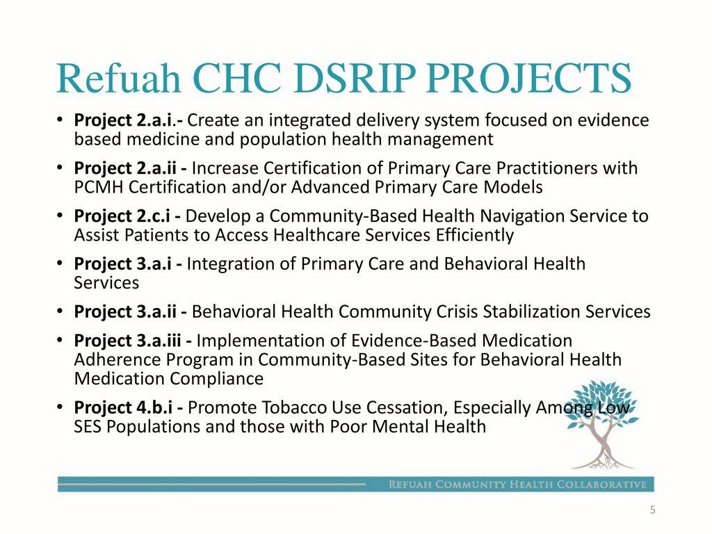 Refuah community health collaborative rchc pps ppt download refuah chc dsrip projects xflitez Image collections