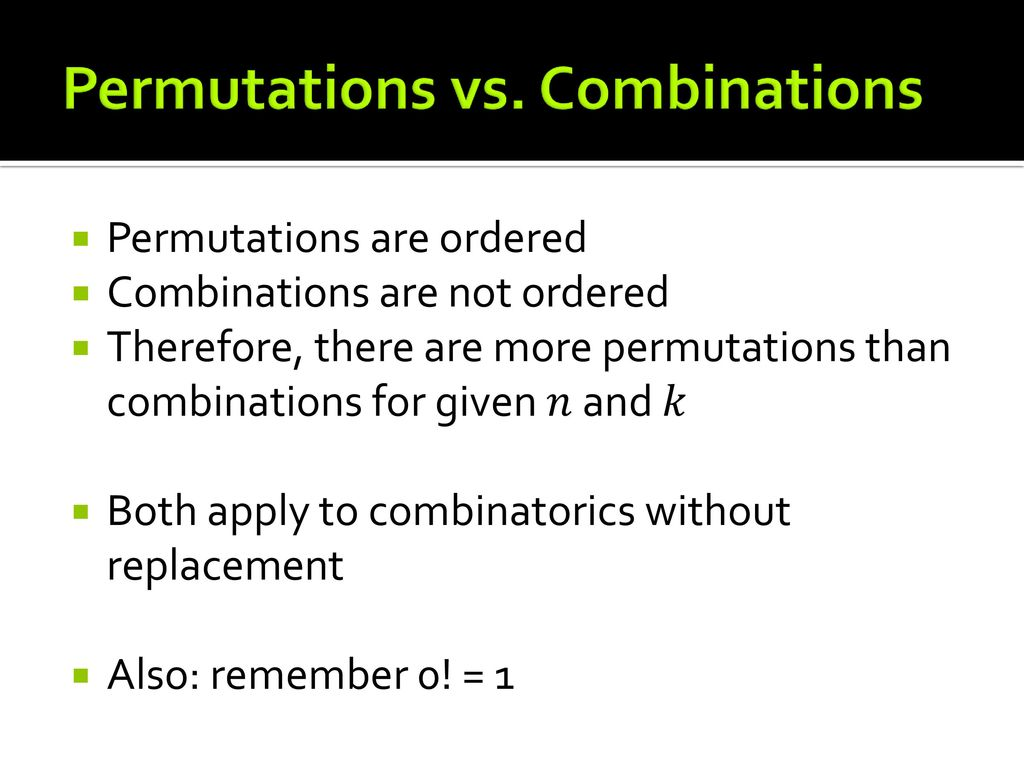 worksheet Combinations And Permutations Worksheet combinatorial principles permutations and combinations ppt video 2 vs