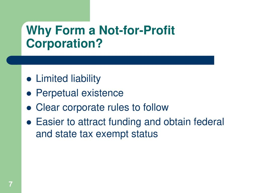 Essentials of Not-For-Profit Incorporation and Tax Exemption ...