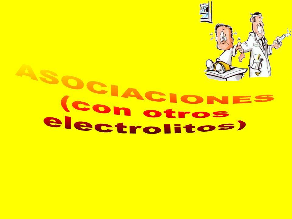ASOCIACIONES (con otros electrolitos)
