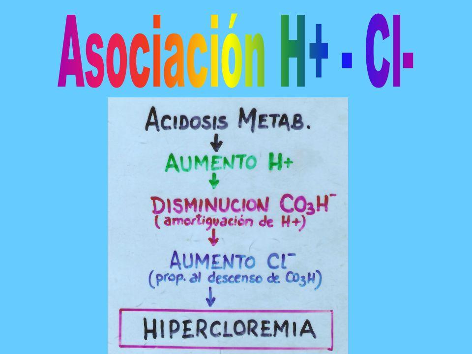 Asociación H+ - Cl-