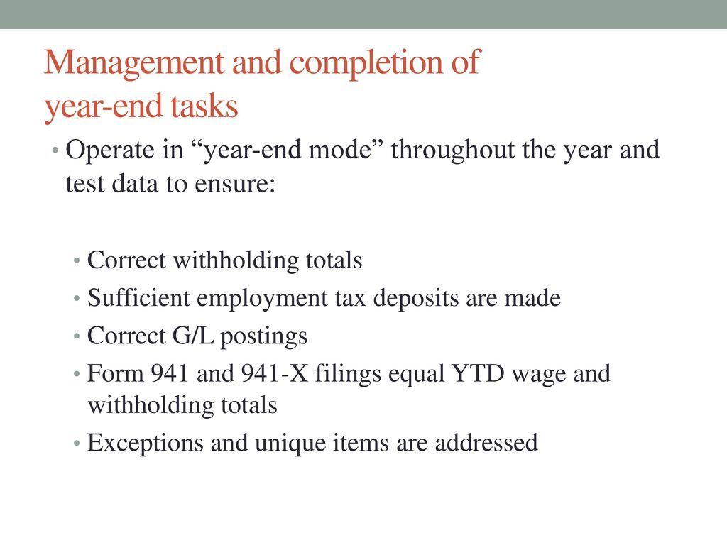 Payroll department 2016 year end complexities november 5 ppt download 5 management falaconquin